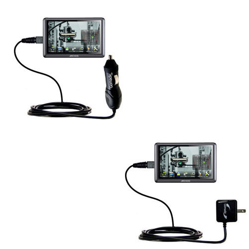 Car & Home Charger Kit compatible with the Archos 50b Vision