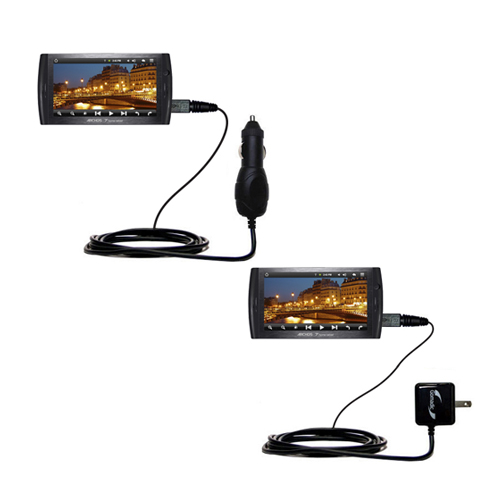 Car & Home Charger Kit compatible with the Archos 7 Home Tablet with Android