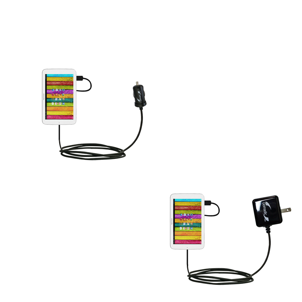 Car & Home Charger Kit compatible with the Archos 70 / 70b Titanium