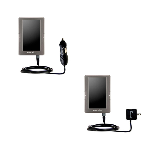 Car & Home Charger Kit compatible with the Archos 70c eReader