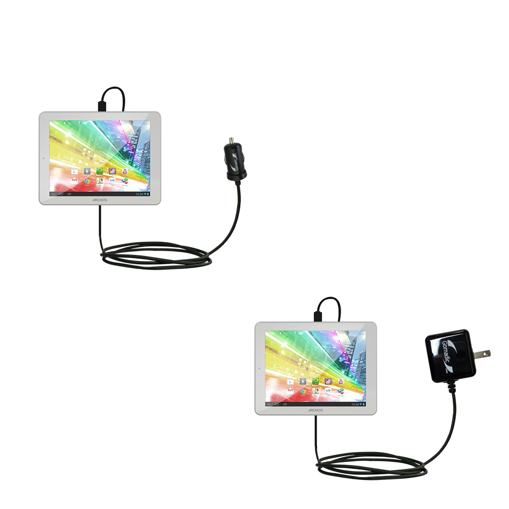 Car & Home Charger Kit compatible with the Archos 80b Platinum