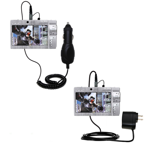 Car & Home Charger Kit compatible with the Archos AV500 Series