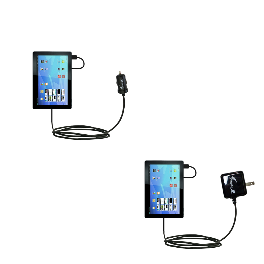 Car & Home Charger Kit compatible with the Archos Familypad 2