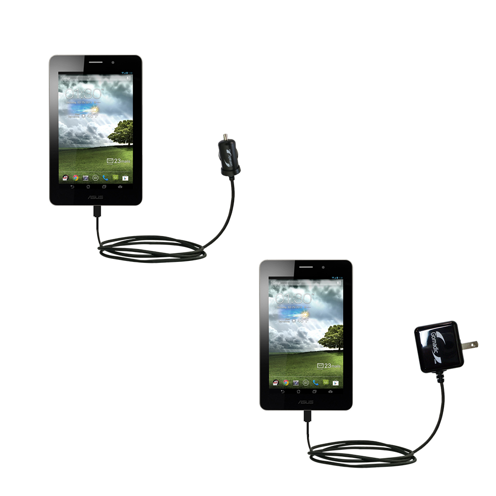 Car & Home Charger Kit compatible with the Asus MeMo Pad ME171V