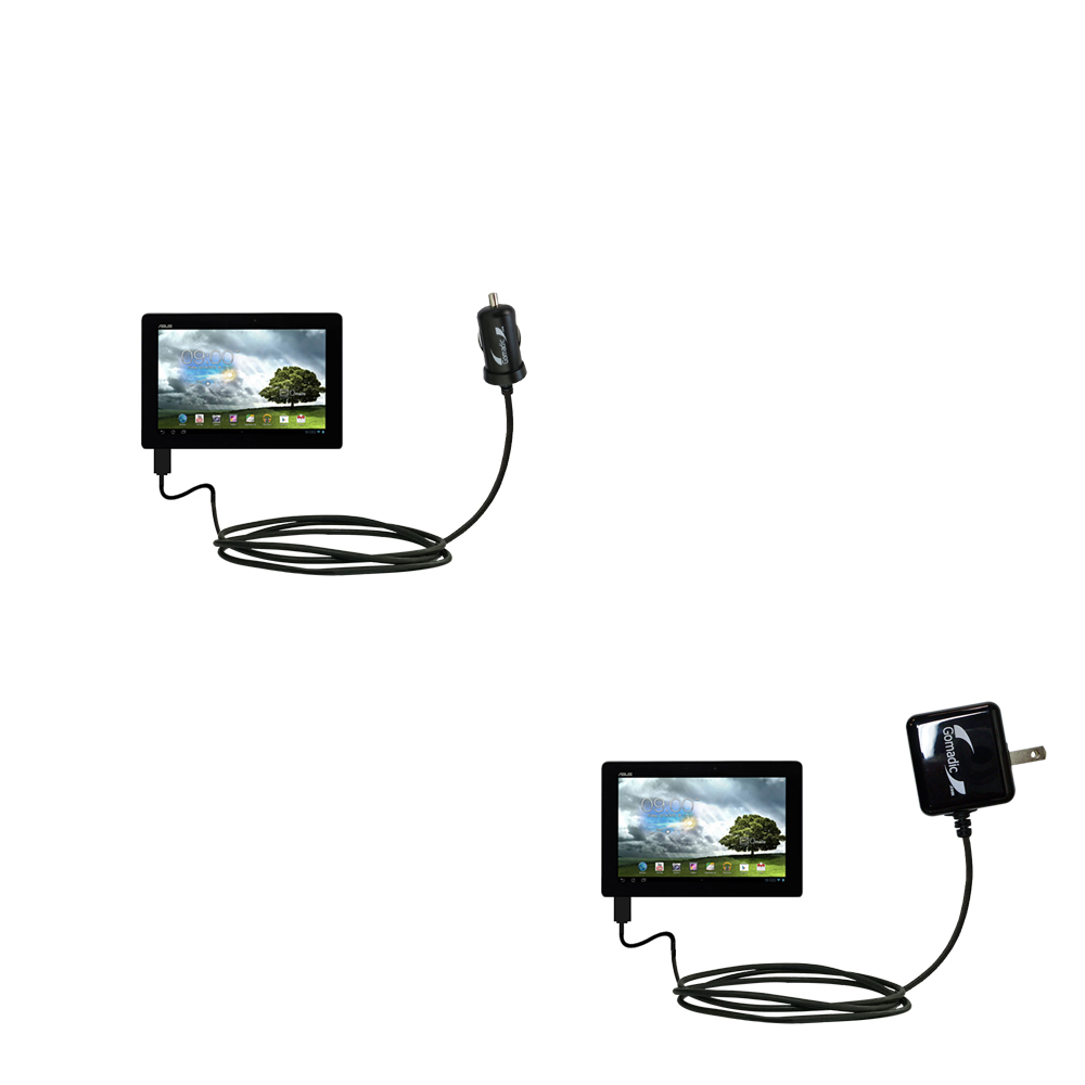 Car & Home Charger Kit compatible with the Asus MeMo Pad Smart 10