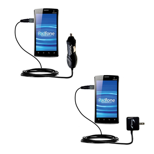 Car & Home Charger Kit compatible with the Asus PadFone