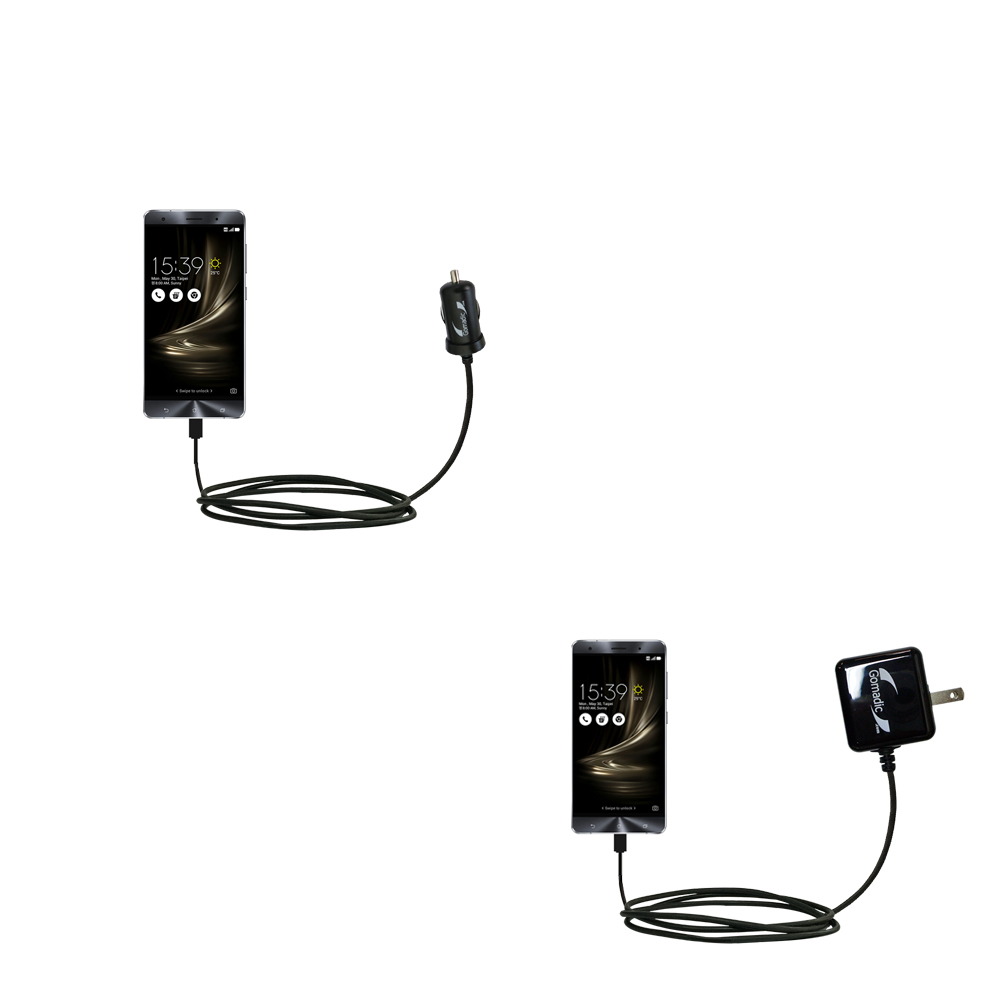 Car & Home Charger Kit compatible with the Asus Zenfone 3