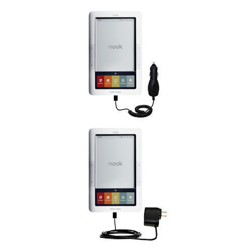 Car & Home Charger Kit compatible with the Barnes and Noble nook Original eBook eReader
