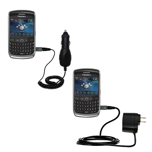Car & Home Charger Kit compatible with the Blackberry 8900