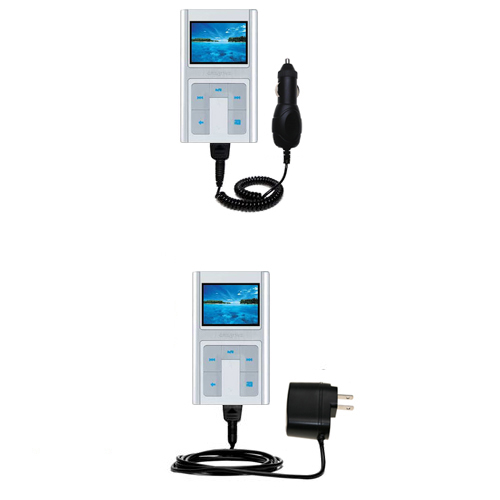 Car & Home Charger Kit compatible with the Creative Zen Sleek Photo