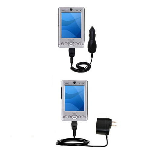 Car & Home Charger Kit compatible with the Dell Axim x3 x3i
