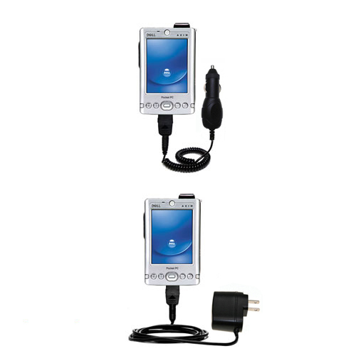 Car & Home Charger Kit compatible with the Dell Axim x3i