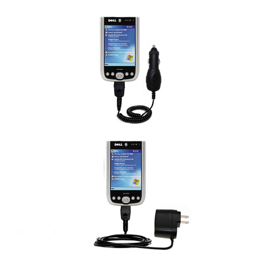 Car & Home Charger Kit compatible with the Dell Axim X50 X50v