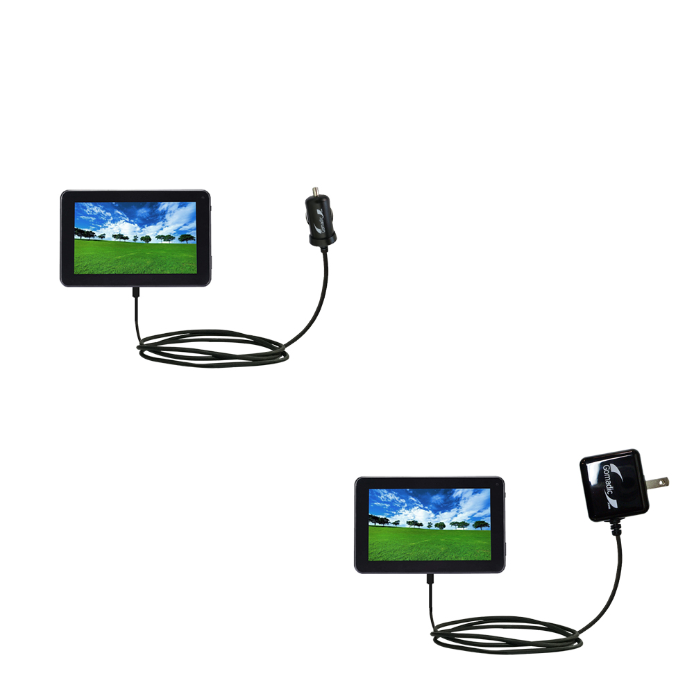 Car & Home Charger Kit compatible with the Double Power D7020 D7015 7 inch tablet