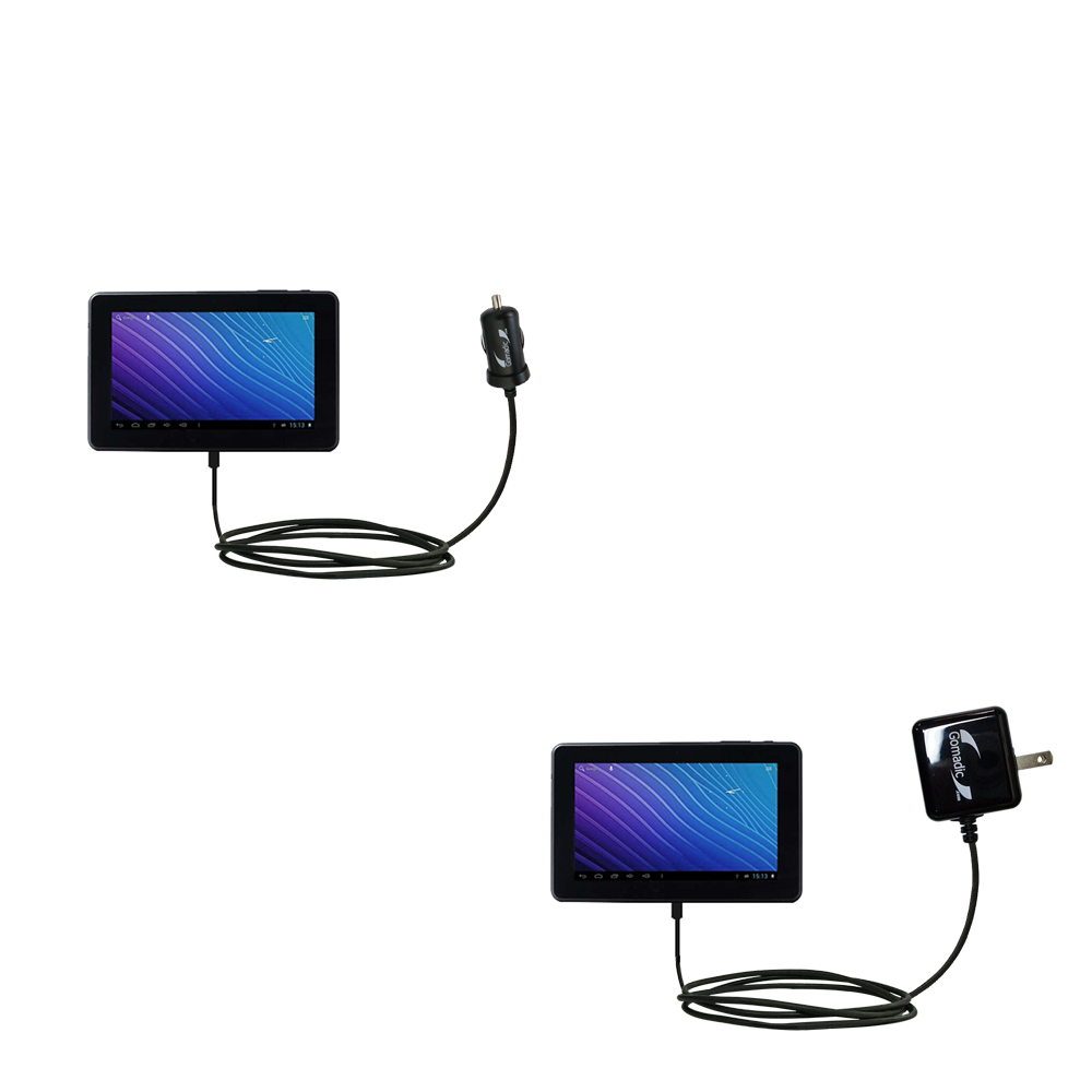 Car & Home Charger Kit compatible with the Double Power M7088 7 inch tablet