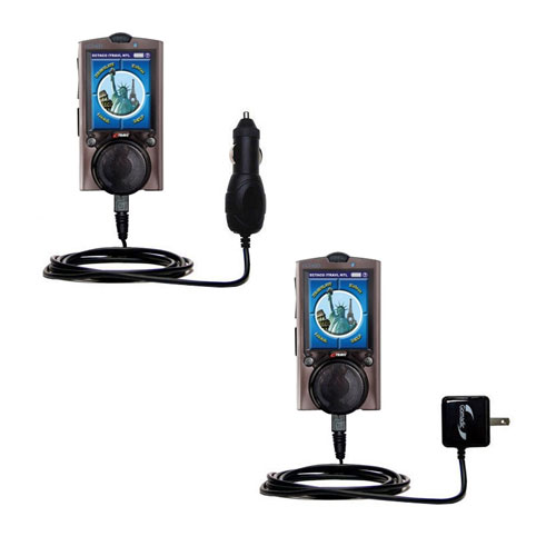 Car & Home Charger Kit compatible with the ECTACO iTRAVL Series