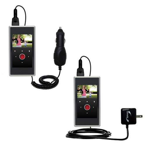 Car & Home Charger Kit compatible with the Flip SlideHD