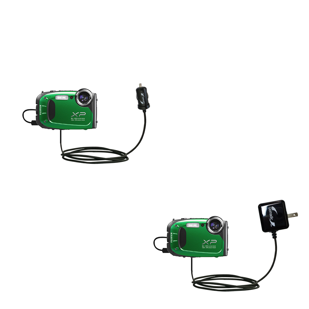 Compact and retractable USB Power Port Ready charge cable designed for the Fujifilm Finepix XP60 and uses TipExchange