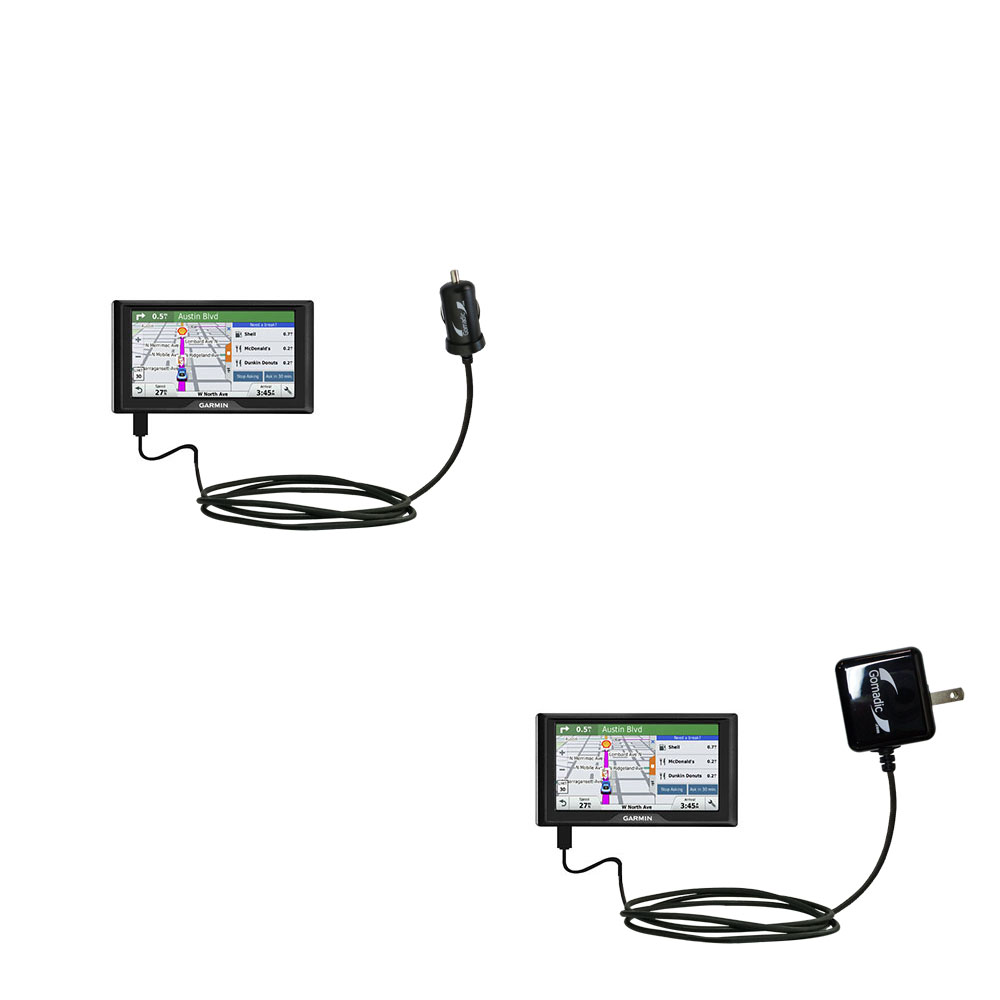 Car & Home Charger Kit compatible with the Garmin Drive 51 / 61