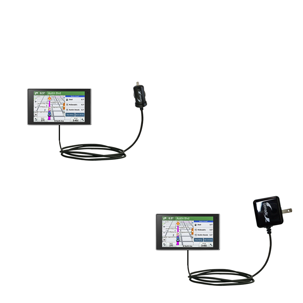 Car & Home Charger Kit compatible with the Garmin DriveLuxe 50LMTHD
