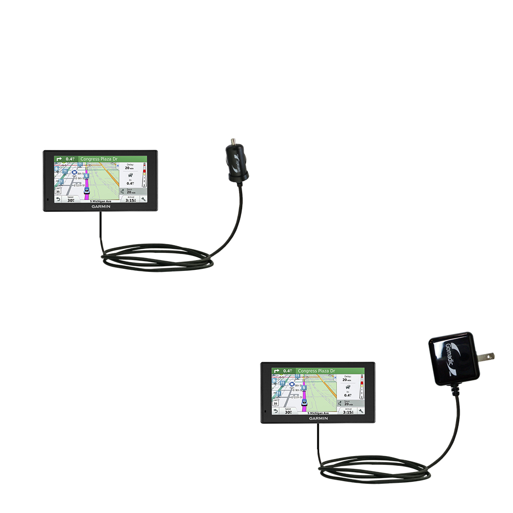 Car & Home Charger Kit compatible with the Garmin DriveSmart 60LMT