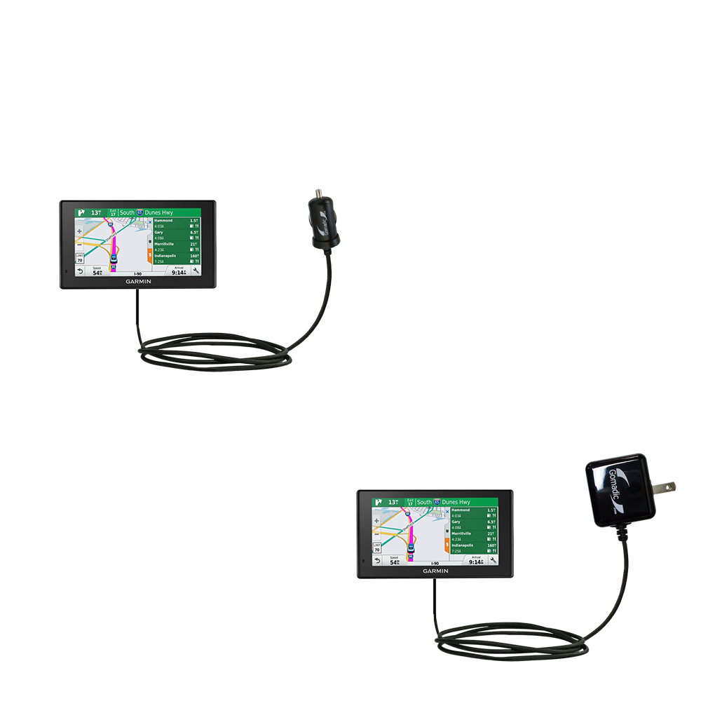 Car & Home Charger Kit compatible with the Garmin DriveSmart 70LMT