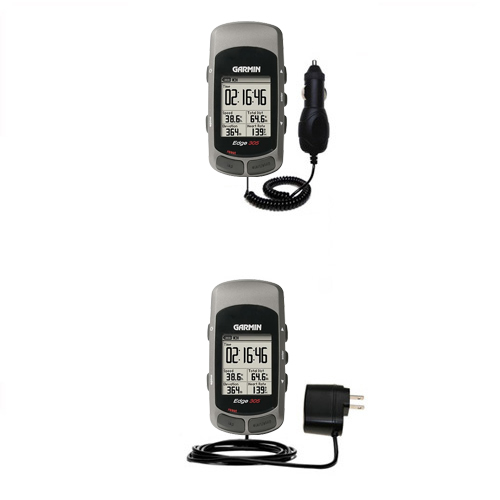 Car & Home Charger Kit compatible with the Garmin Edge 205