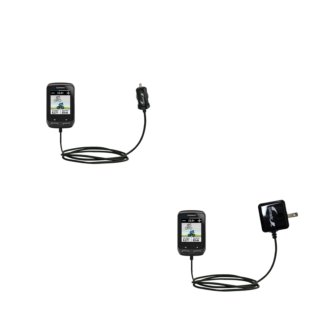 Car & Home Charger Kit compatible with the Garmin EDGE 510