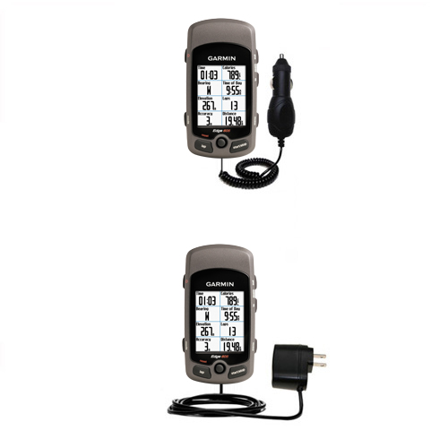 Car & Home Charger Kit compatible with the Garmin Edge 605