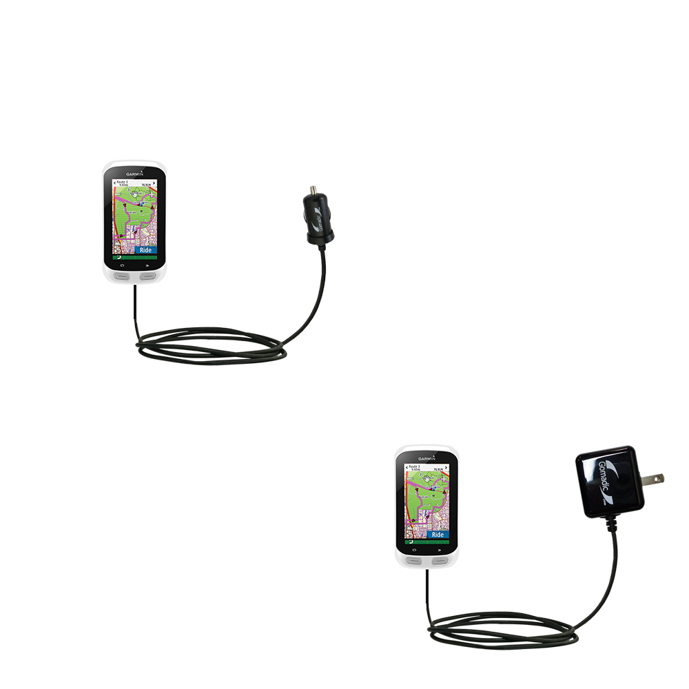 Car & Home Charger Kit compatible with the Garmin EDGE Explorer 1000