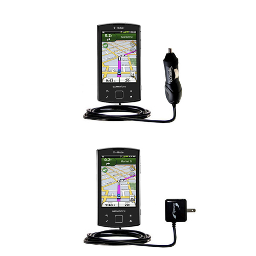 Car & Home Charger Kit compatible with the Garmin Garminfone