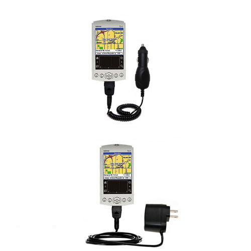 Car & Home Charger Kit compatible with the Garmin iQue 3200