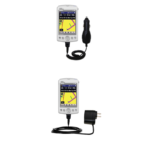 Car & Home Charger Kit compatible with the Garmin iQue M3