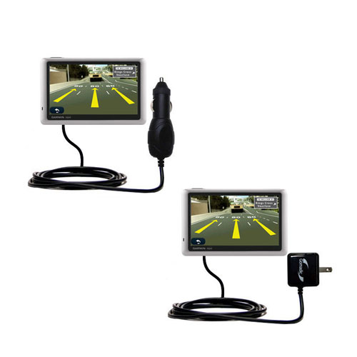 Car & Home Charger Kit compatible with the Garmin Nuvi 1450T