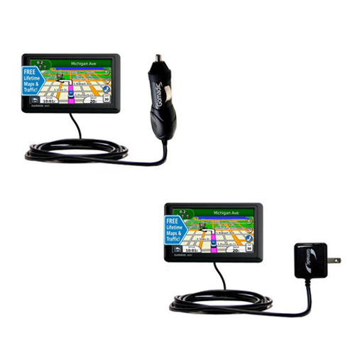 Car & Home Charger Kit compatible with the Garmin nuvi 1490LMT 1490T