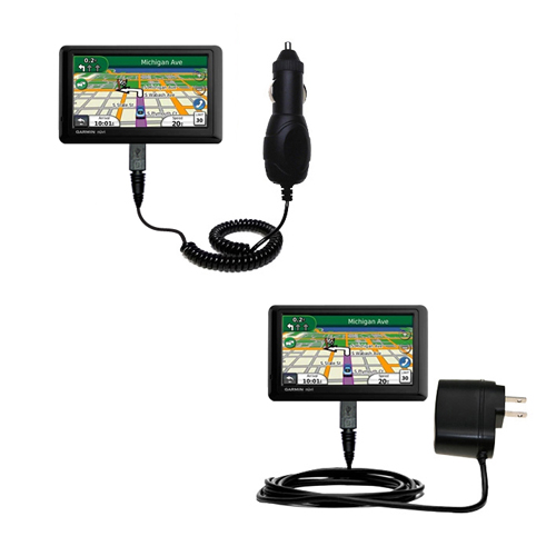 Car & Home Charger Kit compatible with the Garmin Nuvi 1490T
