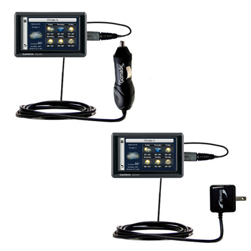 Car & Home Charger Kit compatible with the Garmin Nuvi 1695