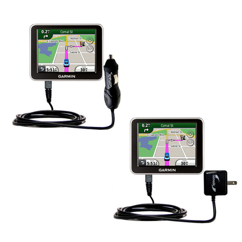 Car & Home Charger Kit compatible with the Garmin Nuvi 2200 2240 2250