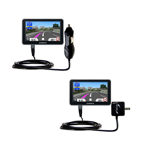 Car & Home Charger Kit compatible with the Garmin Nuvi 2340 2350 2360 2360LMT 2370 2370LT