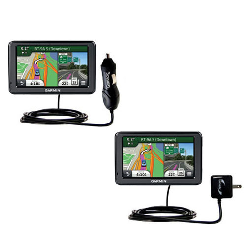 Car & Home Charger Kit compatible with the Garmin Nuvi 2455 2475LT 2495LMT 2455LMT