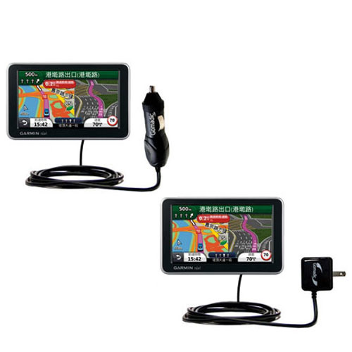 Car & Home Charger Kit compatible with the Garmin Nuvi 2555 2595 LMT