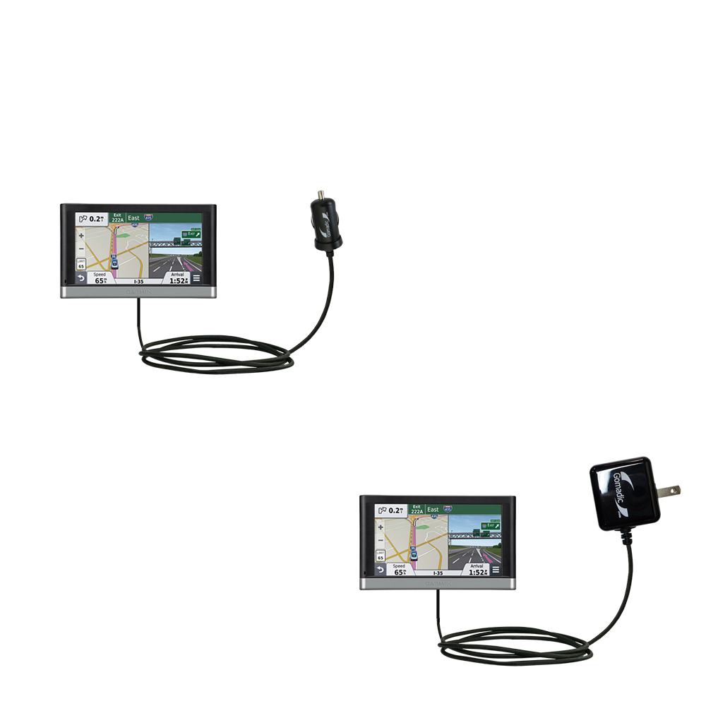 Car & Home Charger Kit compatible with the Garmin nuvi 2557 / 2577 / 2597 LMT