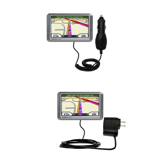 Car & Home Charger Kit compatible with the Garmin Nuvi 260W 260