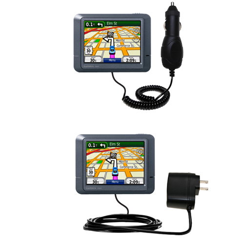 Car & Home Charger Kit compatible with the Garmin Nuvi 265T