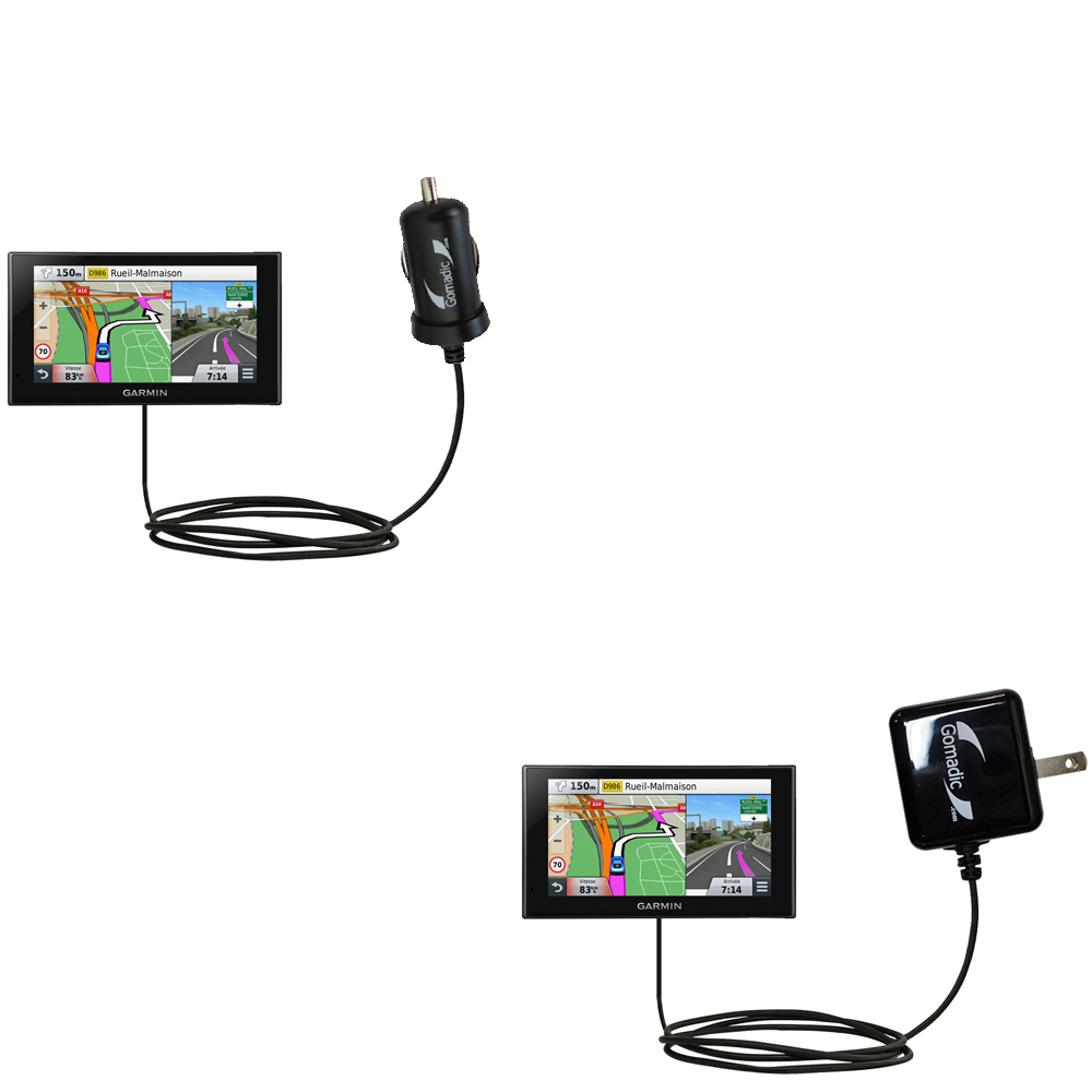 Car & Home Charger Kit compatible with the Garmin nuvi 2669 / 2689 LMT