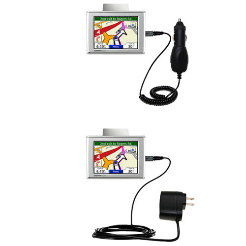 Car & Home Charger Kit compatible with the Garmin Nuvi 310 310T