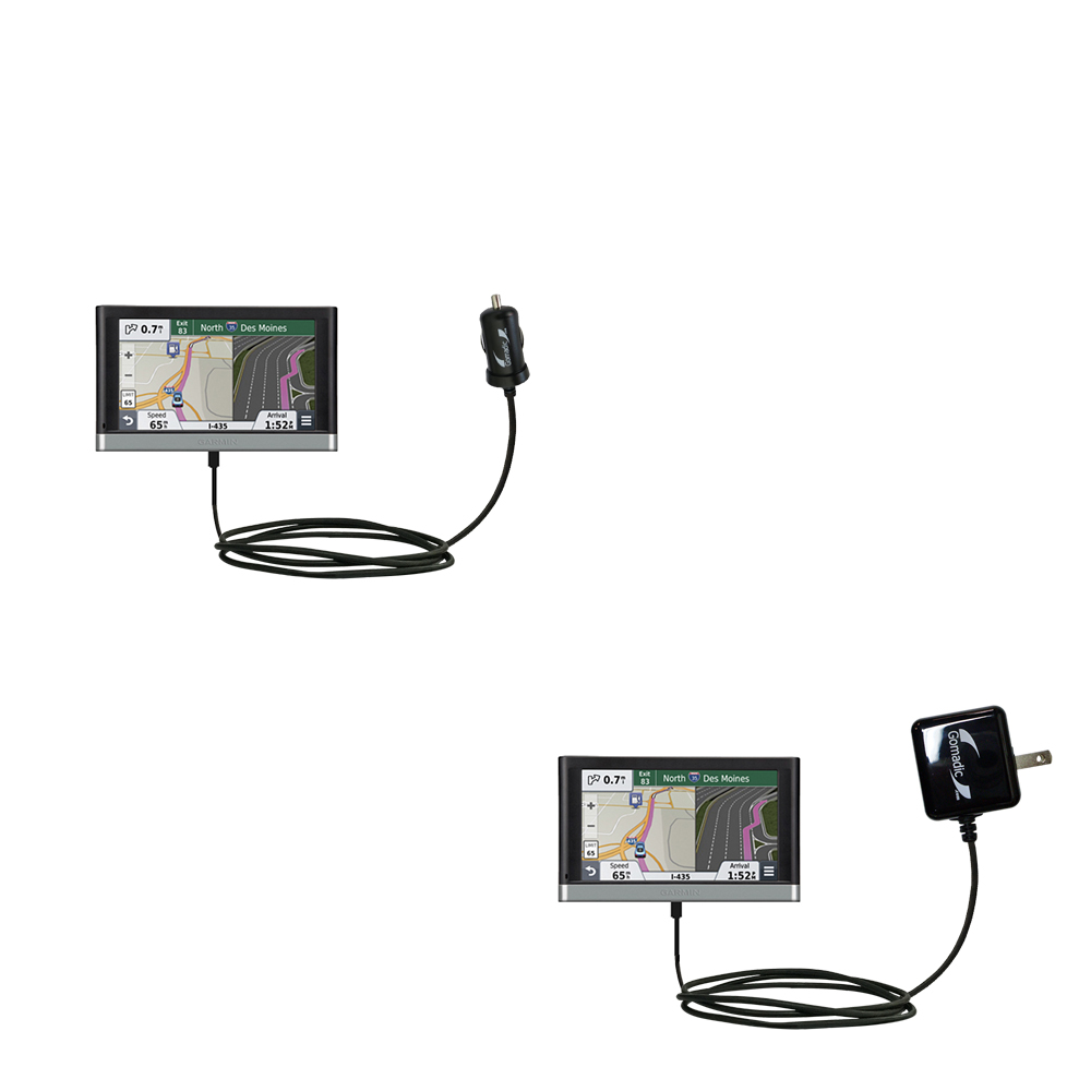 Car & Home Charger Kit compatible with the Garmin nuvi 3597 LMTHD