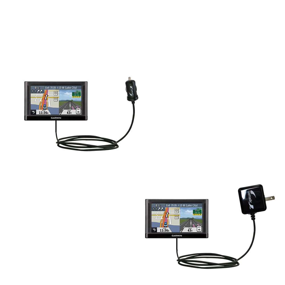 Car & Home Charger Kit compatible with the Garmin nuvi 52 / nuvi 54
