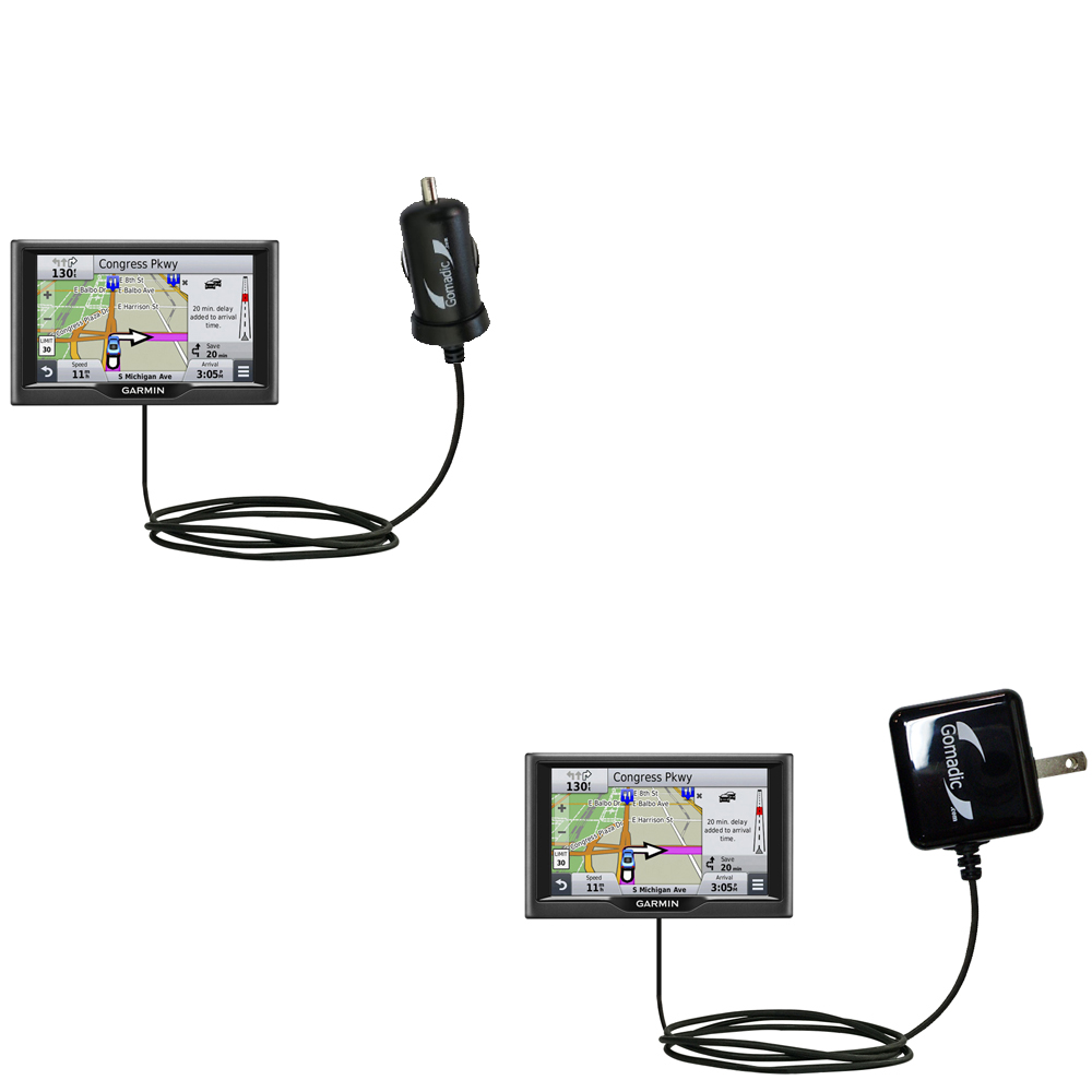 Car & Home Charger Kit compatible with the Garmin nuvi 67 / 68 LM LMT