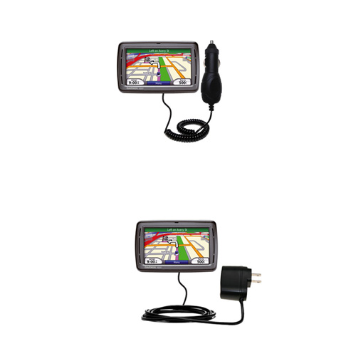 Car & Home Charger Kit compatible with the Garmin Nuvi 860